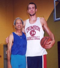 Yonah Offner, Yoga Therapist, with Brian Sigafoos, professional basketball player